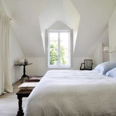 White Belgian bedroom