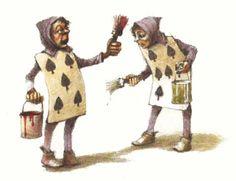 Robert Ingpen «Alice in Wonderland Alice In Wonderland 1, Go Ask Alice, Painting The Roses Red, Children's Picture Books, Lewis Carroll, Children's Literature, Queen Of Hearts, Line Drawing, Illustrators