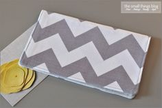 Quiltish by Allisa Jacobs: Chevron Checkbook Cover Tutorial
