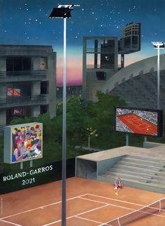 Cartel Roland Garros 2021 Autor: Jean Claracq Museum Poster, Moving To Paris, Renaissance Paintings, Basque Country, Le Site, Italian Renaissance, Exhibition Poster, Figure Painting, Paris France