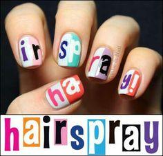Hairspray nails...I gotta do these soon