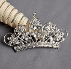 10 Rhinestone Button Embellishment Crystal TIARA CROWN Bridal Wedding Brooch Bouquet Invitation Cake Hair Comb Pin BT550 by yourperfectgifts on Etsy https://www.etsy.com/listing/129366392/10-rhinestone-button-embellishment