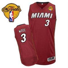 2dedd907f Youth Dwyane Wade Authentic In Red Adidas NBA Finals Miami Heat  3  Alternate Jersey Dwyane