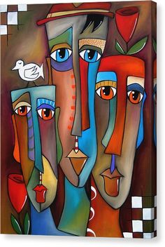 Pop Art Painting - This Moment By Fidostudio by Tom Fedro - Fidostudio Pintura Graffiti, Pop Art Collage, Abstract Face Art, Abstract Paintings, Art Paintings, Cubist Art, Arte Pop, Whimsical Art, African Art