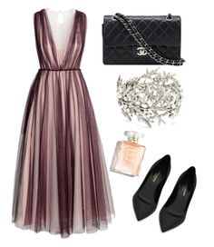Flirty by pernillamaneschiold on Polyvore featuring polyvore, fashion, style, H&M, Yves Saint Laurent, Chanel, Oscar de la Renta and clothing