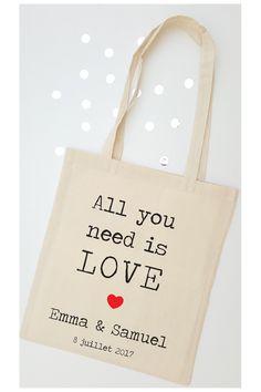 Tote bag mariage - Love vintage