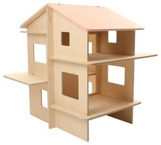 MOMOLL RayRay Contemporary dolls' house EUR 169 Toys that allow room for imagination. This sturdy (and collapsible for easy storage) birch plywood dollhouse is built to last. It has plenty of space and rooms for your child to go crazy with their dolls —as well as a fantastic secret chamber hidden in the roof — but other than that, there's not much else to it. Why should there be? Encourage your child to let their imagination roam free!  Dimensions:  58 cm x 51 cm x 64 cm — Vanessa Brunner