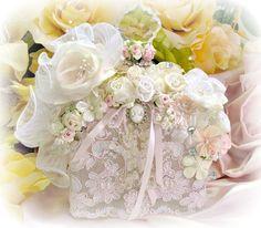 Image 0 of Regency Elegance Pink Beaded Square Potion Bottle