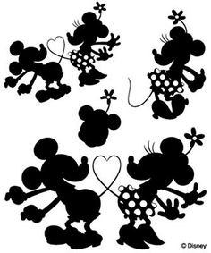 """Disney clear stamps """"Mickey & Minnie 2 the [specify OK: Scrapbooking, tole painting Disney Diy, Disney Crafts, Disney Trips, Silhouette Cameo Projects, Silhouette Design, Silhouette Cameo Disney, Disney Images, Disney Fantasy, Silhouette Portrait"""