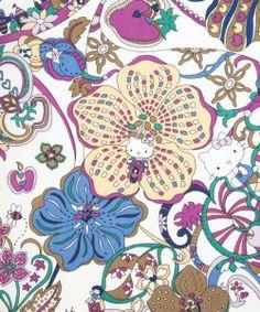 Liberty of London + Hello Kitty. The Hello Kitty is so subtle! Liberty Art Fabrics, Liberty Print, Brighton, Hello Kitty Art, Hello Hello, Pineapple Images, Hello Kitty Wallpaper, Little Kitty, Textiles
