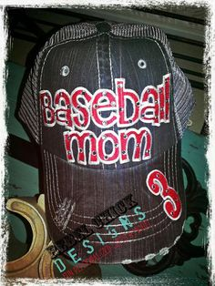 Hey, I found this really awesome Etsy listing at https://www.etsy.com/listing/177372727/personalized-blingy-baseball-mom-hat