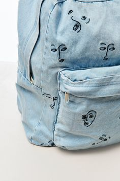 Slide View: 2: UO x The Style Club Denim Backpack