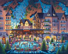 Vail Village by Eric Dowdle