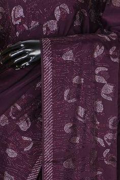 Plum Stone Embroidered Satin Saree-PA2245 Satin Saree, Lehenga Designs, Traditional Looks, Green Stone, Sarees Online, Art Sketches, Party Wear, Blouse Designs, Wedding Styles