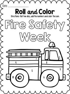 October Roll and Color!  Good use for math during Fire Safety Week!