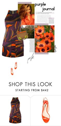 """""""Purple journal"""" by cybelfee ❤ liked on Polyvore featuring Versace, Sophia Webster and Prada"""