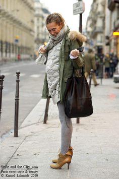 maternity street style paris