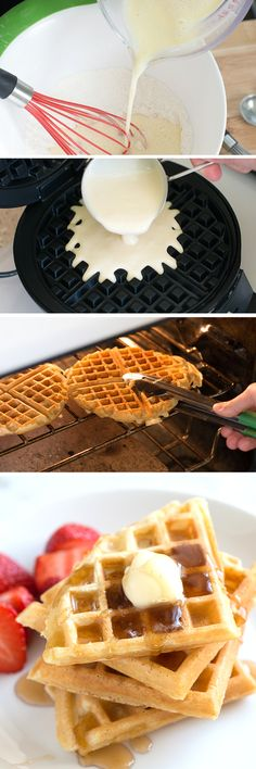 Best Homemade Waffle - Cornstarch is the secret for crispy waffles. Mixed with flour, cornstarch guarantees that your waffles will be perfectly crisp on the outside and tender on the inside.