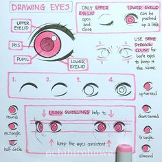 """16.7k Likes, 84 Comments - Anne Chihiro Howe Takogawa (@chihirohowe) on Instagram: """"A short tutorial on drawing eyes :) This is drawing eyes in my style, but I hope it makes sense! I…"""""""