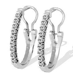 Diamant Ohrringe aus 585er Weißgold mit 1.00 Karat Diamanten - http://www.juwelierhausabt.de/products/de/Diamant-Ohrringe/Diamant-Ohrringe/Diamant-Ohrringe-aus-585er-Weissgold-mit-100-Karat-Diamanten5.html