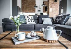 Nordic gray modern home interior design 29