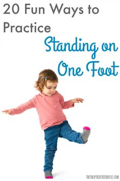 20 Creative Ways to Practice Single Leg Stance - The Inspired Treehouse Therapy Activities, Activities For Kids, Balance Beam, Dance Class, Exercise For Kids, Taekwondo, Treehouse, Fun Workouts, Kids Fitness