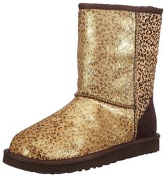 Ugg Classic Short Metallic Leopard Calf Hair Women Boots 1005329-LMTL >> Remarkable product available now. : Ladies boots
