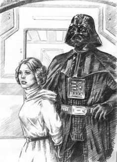 Vader and Leia by Loye.deviantart.com on @DeviantArt