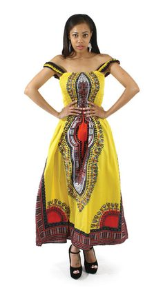 Stand out in a crowd with this ornately designed long dress. Traditional designs adorn the dress from top to bottom further proving that just because it'. African Dashiki, African Dress, Afrocentric Clothing, Africa Fashion, Cute Outfits, Summer Dresses, Trending Outfits, Casual, Clothes