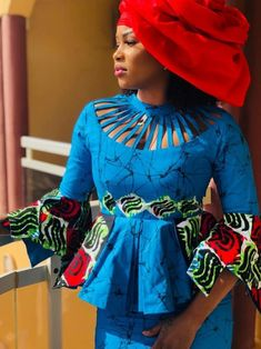 ( 05 Photos )Mode Ramadan - le « Sagnsé African Wear Dresses, Latest African Fashion Dresses, African Print Fashion, Africa Fashion, African Attire, African Blouses, African Lace, Senegalese Styles, African Design