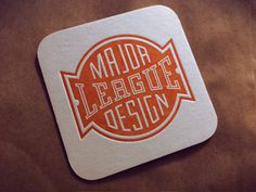 Major League Design designed by Tim Frame. Connect with them on Dribbble; the global community for designers and creative professionals. Coaster Design, Self Promo, Logo Design, Graphic Design, Inspiration Boards, Major League, Letterpress, Design Projects, Creative