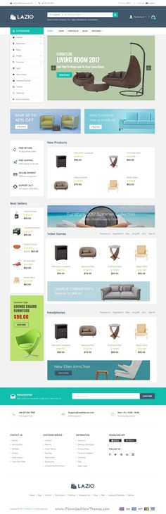 Lazio is clean and modern design 8in1 responsive #OpenCart theme for stunning #interior, furniture shop #eCommerce website to live preview & download click on Visit