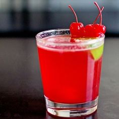For the grown folks: spiked cherry limeade. Guaranteed to make you the hit of every summer party. Tastes like Sonic Cherry Limeade but better #foodgawker