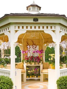 A gazebo is a stunning add-on to a backyard. This gazebo might be your personal oasis or a fantastic location for family gathering. Gazebo Pergola, Garden Gazebo, Gazebo Ideas, Pergola Kits, Patio Ideas, Screened Gazebo, Garden Paths, Backyard Ideas, Outdoor Life
