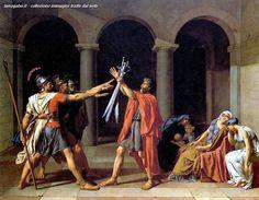 Jacques-Louis David - Il giuramento degli Orazi, 1785, Parigi, Louvre