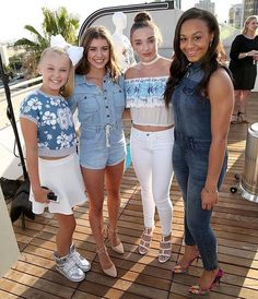 New photo of JoJo, Kalani, Kendall & Nia at the Disney #MXYZ launch event