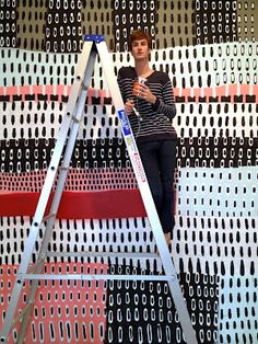 Australian artist James Ettelson with one of his works. via daily imprint Geometric Patterns, Pattern Art, Pattern Design, Unusual Art, Elements Of Art, Tampons, Painting Patterns, Art Studios, Installation Art