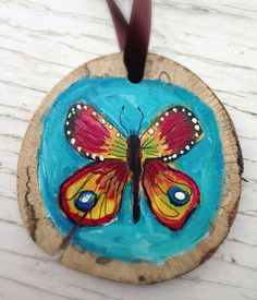 Blue Butterfly Woodland Holiday Decor on Etsy, $22.00