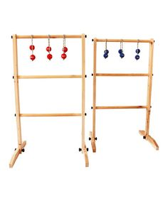 Festival Depot Wooden Ladder Ball Toss Game Set with Carry Bags | zulily