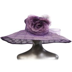 Givenchy Haute Couture Runway Lavender Straw Hat