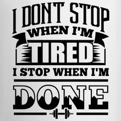 I don't stop...
