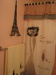 This Galu0027s Blog Has Some DIY Paris Inspired Bathroom Stuff! | Ideas For My  Pink/black/white/pearly/glam Paris Bathroom! | Pinterest | Bathroom Stuff