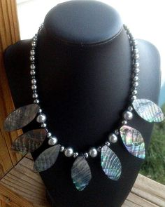 Mother of pearl and glass pearl fan by GnosisCraftsandGifts