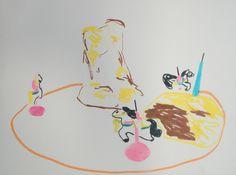 """ANSAMMLUNG VON WELT"", 2015 Filzstift auf Leinwand, 30 x 40 cm Snoopy, Fictional Characters, Collection, Canvas, World"