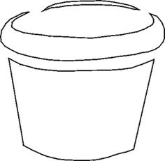 free flower pot template | Free Word Art - Papercraft ...
