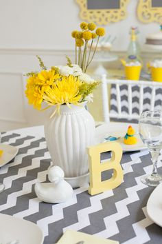 Duck baby shower centerpiece ideas #babyshower #partyideas
