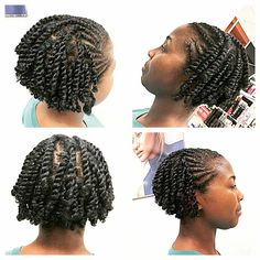 The Most Gorgeous and Creative Chunky Twist Styles To Bring In The New Year Protective Hairstyles For Natural Hair, Natural Hair Braids, Short Twists Natural Hair, Short Natural Hairstyles, Toddler Hairstyles, Short Haircuts, Flat Twist Hairstyles, Black Hairstyles, Wedding Hairstyles