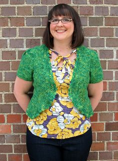Ravelry: Craspedia Cropped Cardigan pattern by Linda Permann, sizes up to 2XL