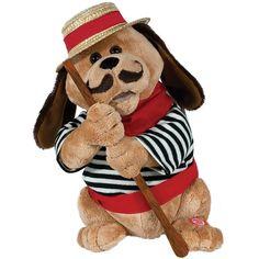 Sole Mio Dog Gondolomio Plush Animated #Italian