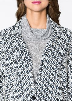 coat with graphic pattern